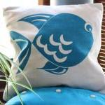 Natural And Blue Cushion C..