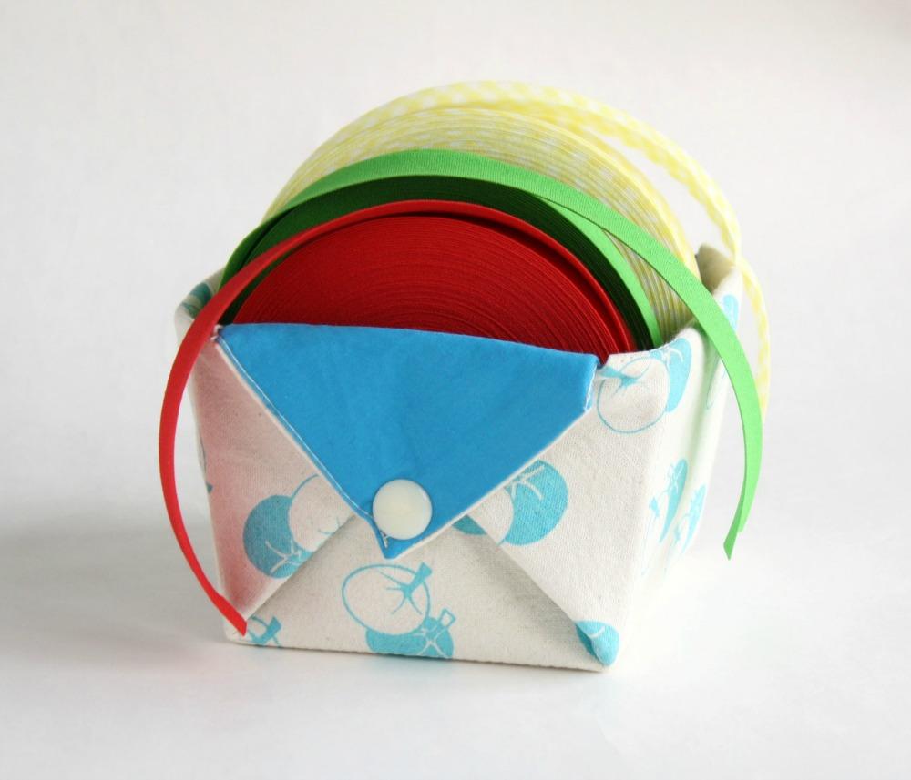 Fabric storage organizer basket origami box organizer - Origami desk organizer ...